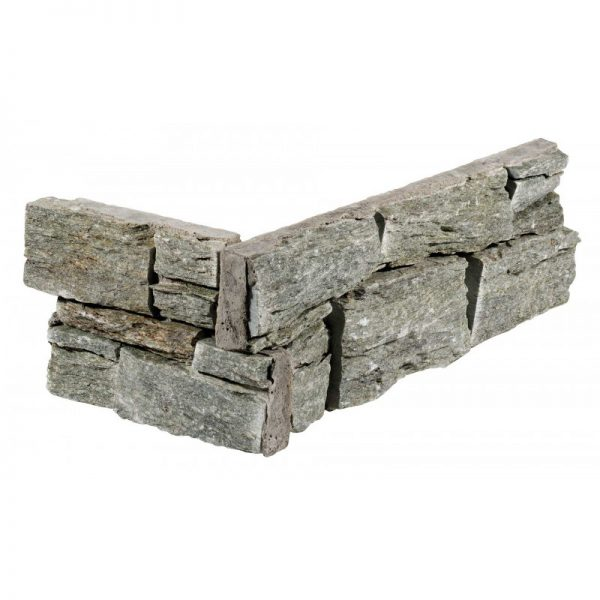 Stone Panels Rustic Silver hoekstuk