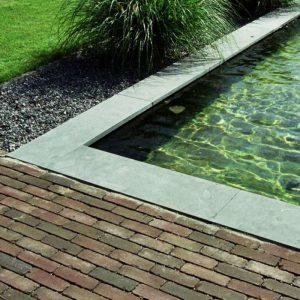 Natuursteen afdekbanden, vijver- en zwembadranden